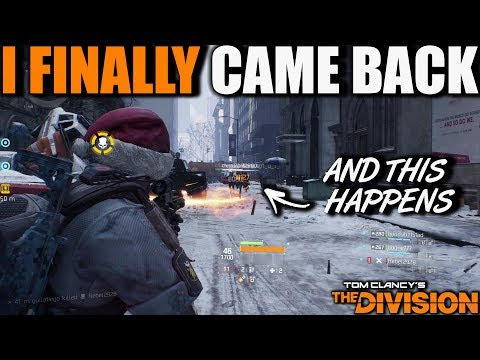 I FINALLY CAME BACK TO THE DIVISION DARK ZONE & THIS HAPPENS | SERVERS WERE EPIC