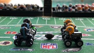 """MONSTER TRUCK FOOTBALL PLAYOFF GAME """"TEXANS VS PACKERS"""""""