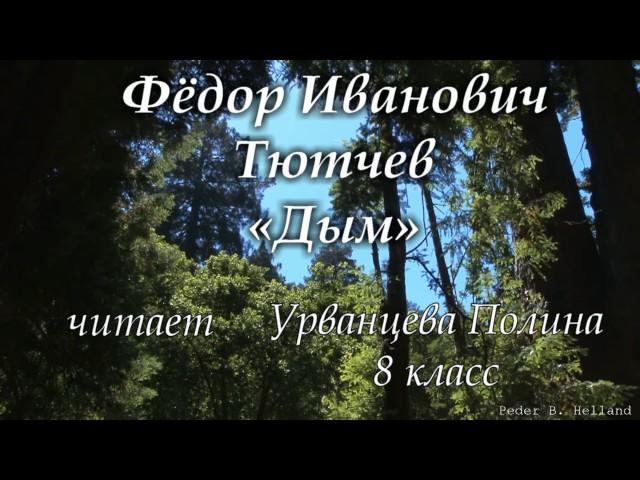 Изображение предпросмотра прочтения – ПолинаУрванцева читает произведение «Дым» Ф.И.Тютчева