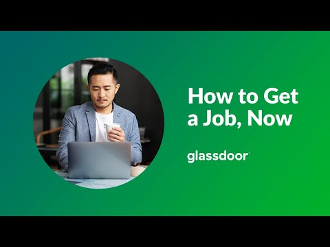 """Glassdoor """"How to Get a Job, Now"""" Virtual Event"""