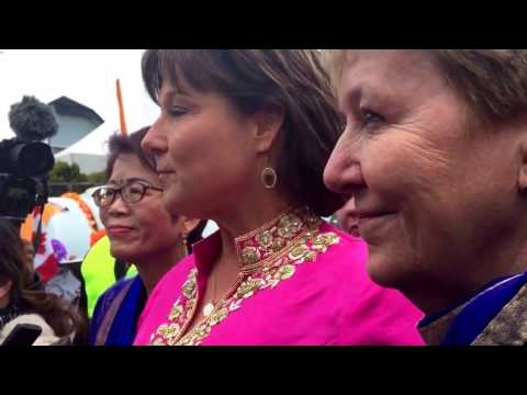 Christy Clark takes questions about improving BC's human right commission at Vaisakhi event.