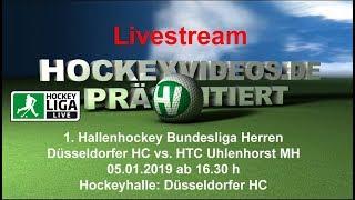 1. Hallenhockey-Bundesliga Herren DHC vs. HTCU 05.01.2019 Livestream