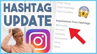 😱 GAMECHANGING HASHTAG UPDATE - Instagram shows which hashtags bring you traffic.. 😱