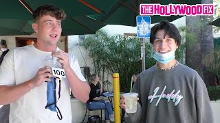Chase Hudson & Harry Jowsey Speak On Dixie D'Amelio, Noah Beck & More While Grabbing Lunch At Urth