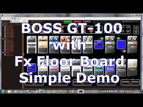 Boss Gt 100 With Fx Floor Board Simple Demo Youtube