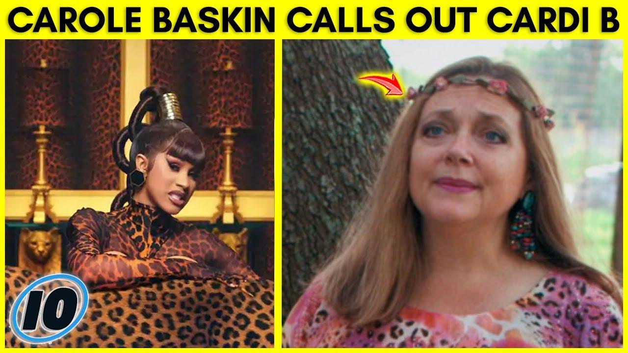 Carole Baskin Calls Out Cardi B and Megan Thee Stallion