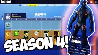 *NEW* SEASON 4 BATTLE PASS COSMETICS REVEAL (Fortnite Battle Royale)