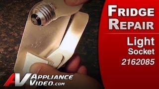 Light Socket - Refrigerator Repair (Whirlpool Replacement Part # 2162085)