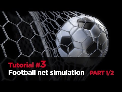 3DS MAX TUTORIAL #3: Football net simulation - PART 1/2