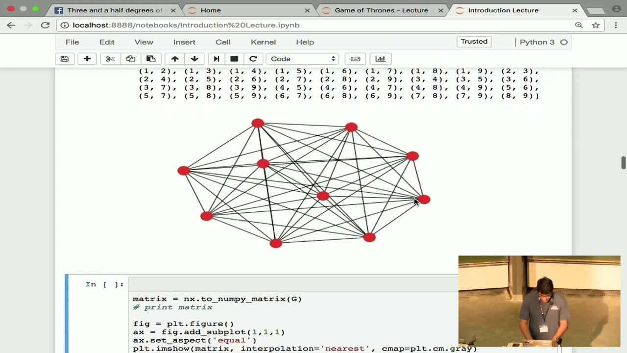 Image from EuroSciPy 2017: NetworkX