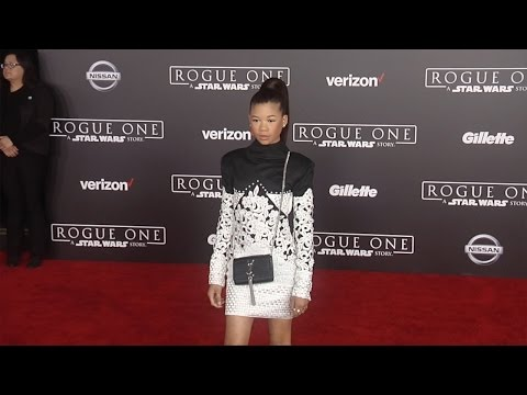 "Storm Reid ""Rogue One: A Star Wars Story"" World Premiere Red Carpet"
