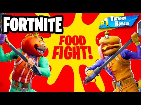 Food Fight Mounted Turret - Fortnite - Gameplay Part 59