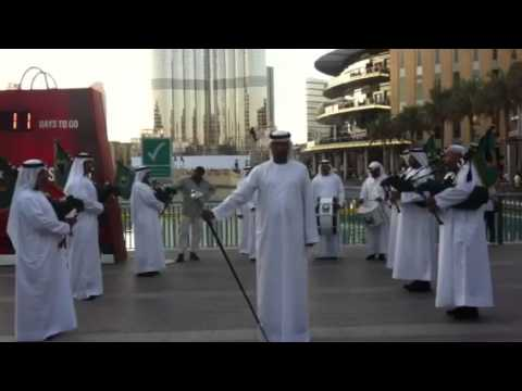 Traditional emirati group burj khalifa