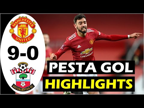 Manchester United vs Southampton 9-0 – Extended Highlights & All Goals Moments- Terbaru 2021 FULL HD