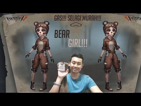 (ENGLISH SUB) OH MY BABY BEAR!!! MECHANIC BEAR GIRL SKIN GAMEPLAY IDENTITY V INDONESIA