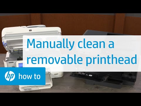 How To Manually Clean a Removeable Printhead | HP Printers | HP