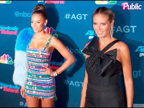 Heidi Klum et Mel B illuminent le red carpet pour America's Got Talent !