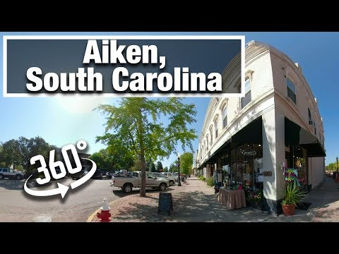 City Walk: Aiken, South Carolina Downtown vr 360 virtual treadmill walking video