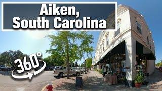 City Walk: Aiken, South Carolina Downtown vr 360 virtual treadmill walking video