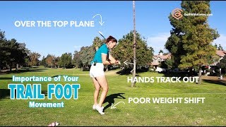 Iron Swing: Slot, Weight Shift, Power & Accuracy | Golf with Aimee