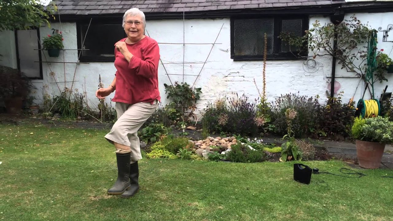 betty gives it some welly dancing in her wellies for angels