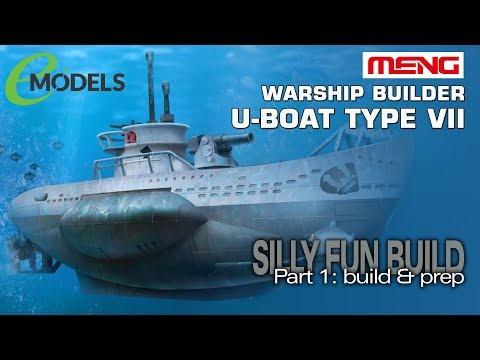 Meng Warship Builder U-Boat Type VII (#WB-003): Prep & Build