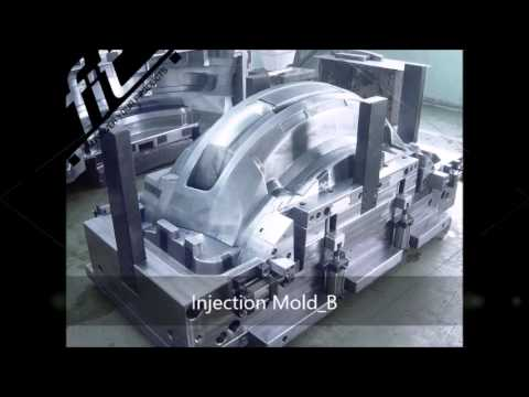 Plastic injection mold for automatic front bumper