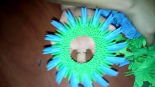 Конфетница из трехукольных модулей . Candy from trehukolnyh modules