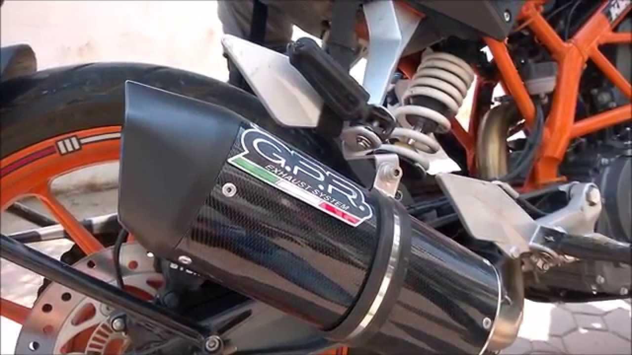 Ktm Duke 390 Sports Gpr Exhaust Vs Factory Exhaust Sound Youtube