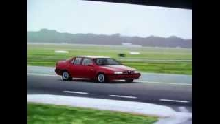 A Lap of the Top Gear Test Track in a 1992 Alfa Romeo 155 Q4