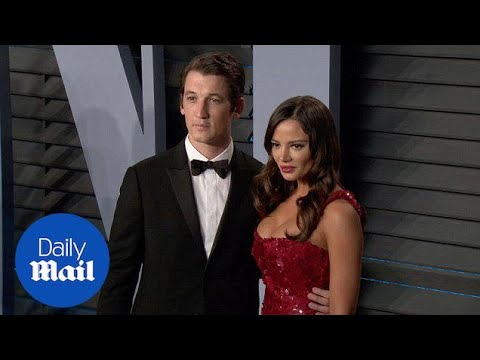 Miles Teller with Keleigh Sperry at Vanity Fair's Oscars party  Daily Mail