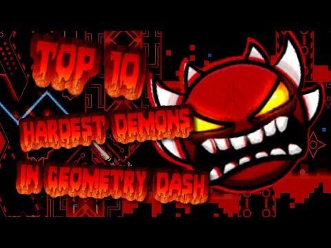 TOP 10 HARDEST DEMONS EVER In GEOMETRY DASH   2.1   UPDATED