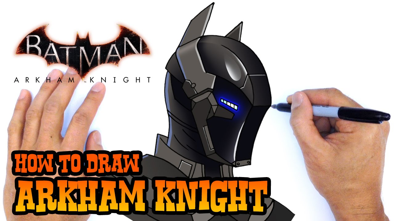 How To Draw Arkham Knight Dc Comics Youtube