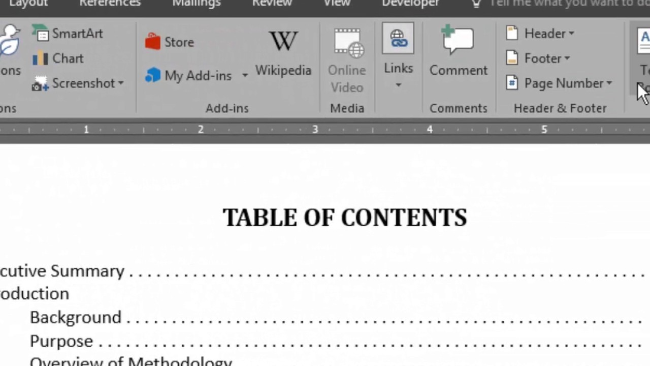 Word Table of Contents: How to Manually Align Page Numbers