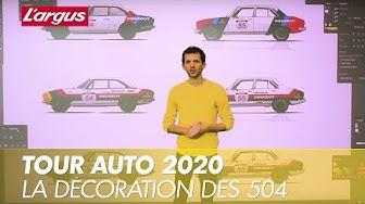 Préparation au Tour Auto 2020 : atelier décoration des Peugeot 504 avec Gilles Vidal
