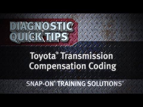 Diagnostic Quick Tips - Toyota Transmission Compensation Coding