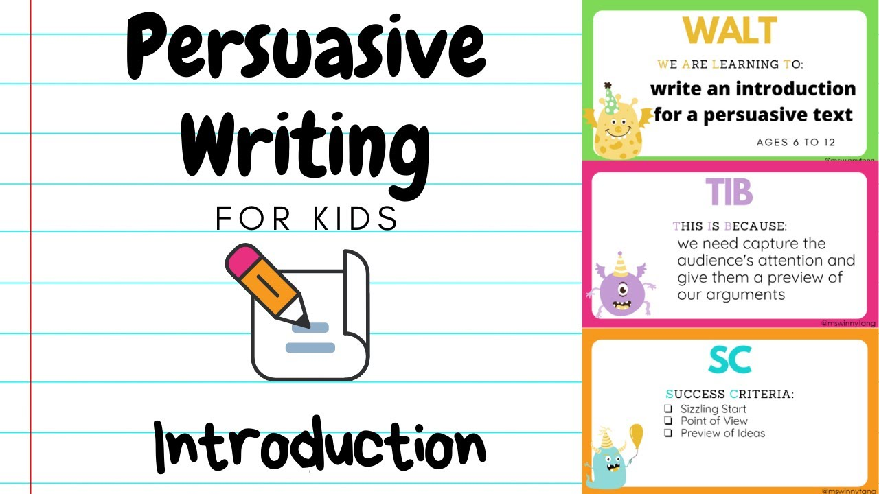 Persuasive essay ideas for kids