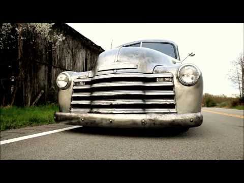 """FOR SALE """"DIRTY DELIVERY"""" an AIR BAGGED BARE METAL 1948 CHEVROLET PANEL PICKUP TRUCK, on eBAY"""