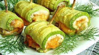 Рулетики 🍡 шашлычки из кабачков 🍆 кабачки, рецепты, кабачок