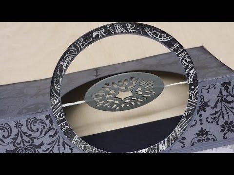 Tutorial vom grünen Wicht| Doppelte Circle pull Card von Karen Burniston - Elizabeth craft design