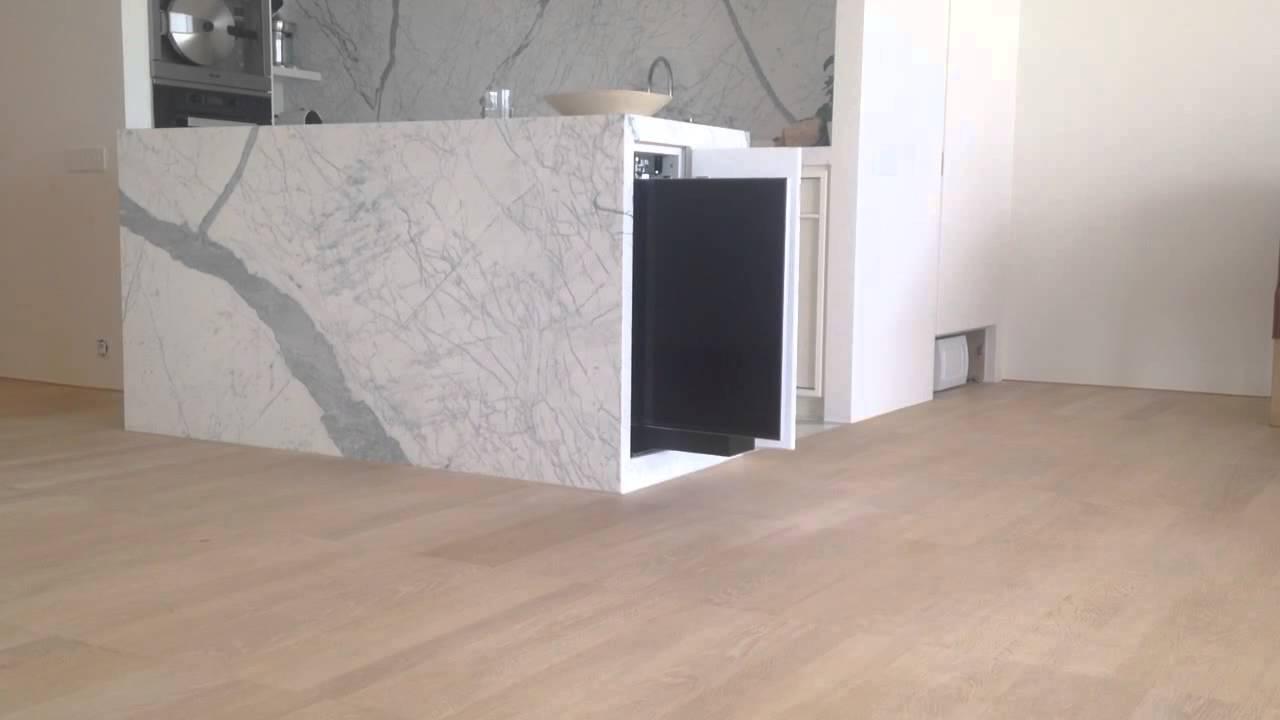 horizontal tv lift swivel youtube. Black Bedroom Furniture Sets. Home Design Ideas