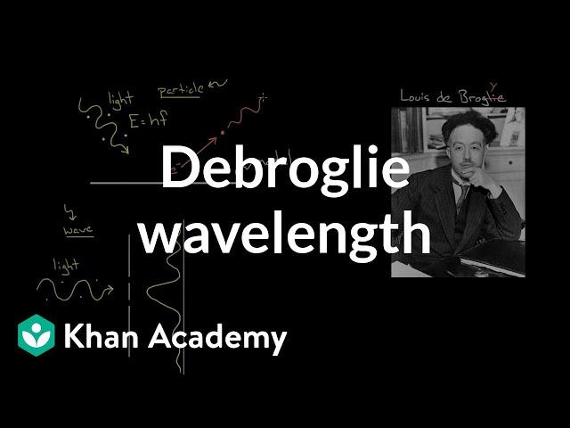 De Broglie wavelength  | Physics | Khan Academy