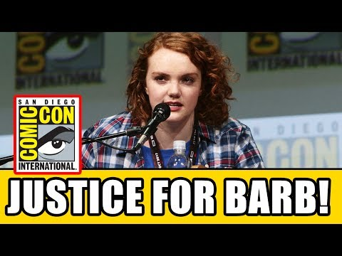 Barb's Suprise Appearance At STRANGER THINGS Comic Con Panel - Season 2 Justice For Barb?