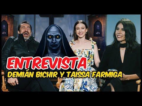 La Monja: Taissa Farmiga y Demián Bichir  Verdaderos sustos en el set
