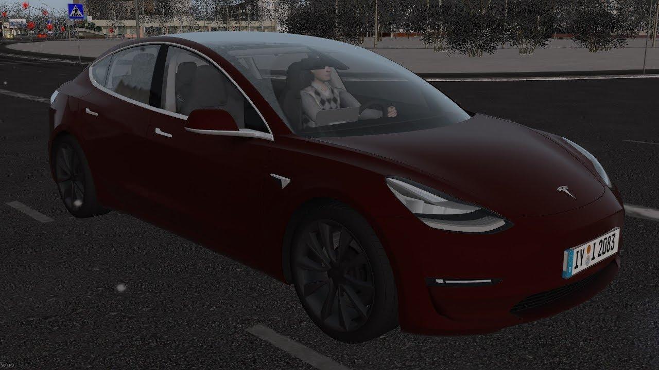 City Car Driving 1.5.5   Tesla Model 3 2018   Snow ...