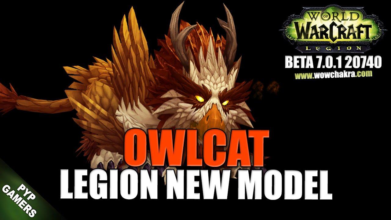 WoW] Owlcat new model | World of Warcraft Legion (Beta) - YouTube