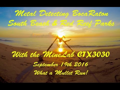 Metal Detecting Boca Raton Beaches with the CTX3030