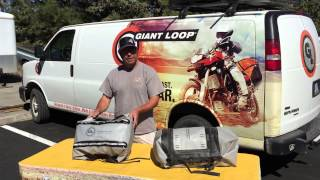 How to Carry Motorcycle Helmet with Giant Loop Soft Luggage