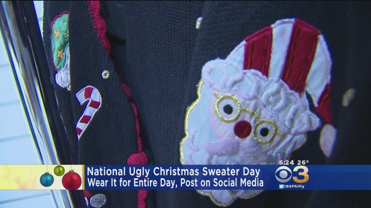 It's National Ugly Christmas Sweater Day
