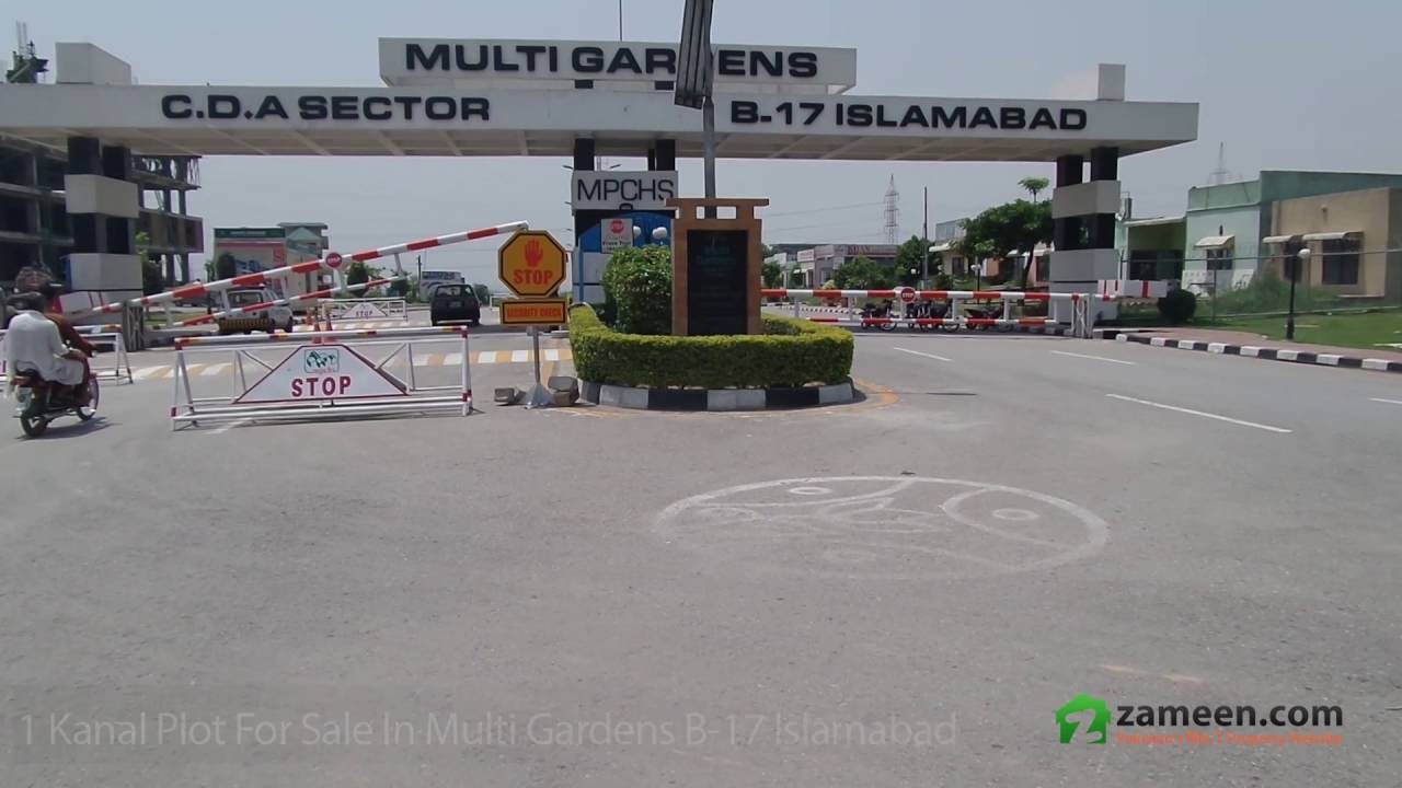 1 KANAL PLOT FOR SALE IN MULTI GARDENS B-17 ISLAMABAD